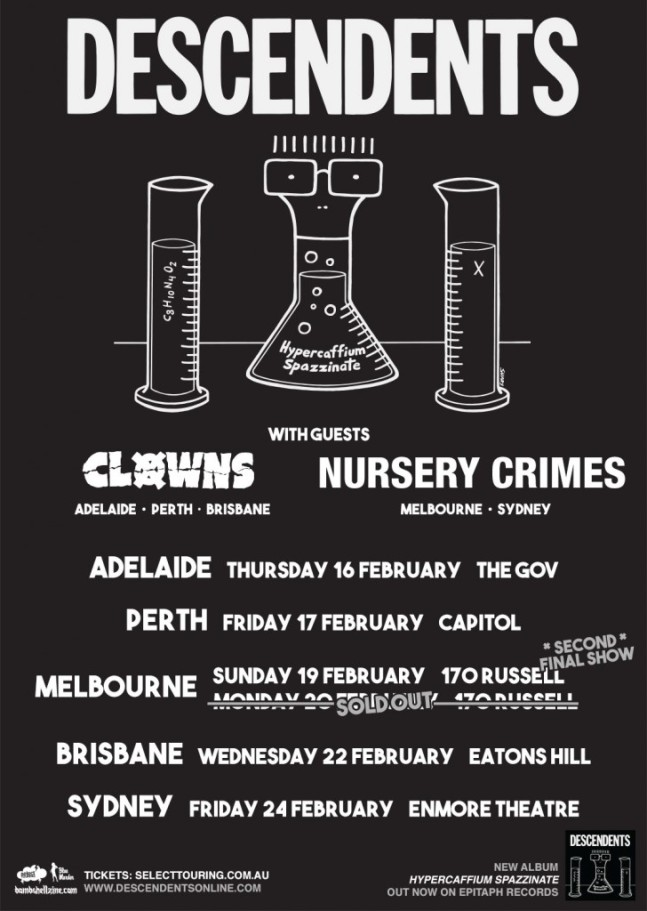 The Descendents Australian Tour